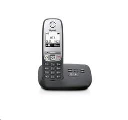 SIEMENS Gigaset A415A bezdrátový telefon, podsvícený graf.display,černý