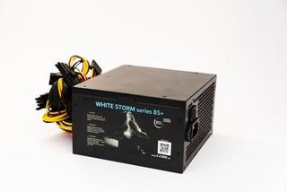 1stCOOL zdroj 350W WHITE STORM 350 85+ s aktivnim PFC, ventilátor 120mm (zdroj do PC case)