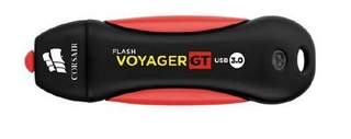 CORSAIR Voyager GT 64GB USB3 flash disk (86x27mm, max 390MB/s čtení, max 80MB/s zápis, vodě odolný a pogumovaný)