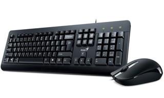 GENIUS klávesnice+myš KM-160 USB černá, drátový set cz+sk layout