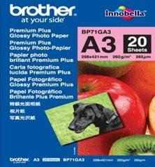 BROTHER Premium Glossy photo paper-lesklý fotografický papír 20listů-, 260g/m2