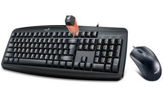 GENIUS klávesnice+myš KM-200 USB černá, drátový set cz+sk layout Smart