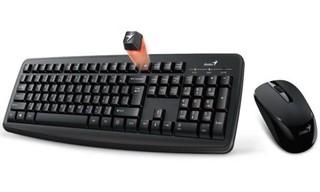 GENIUS klávesnice+myš KM-8100 USB černá, 2.4GHz, bezdrátový set, CZ+SK, Smart