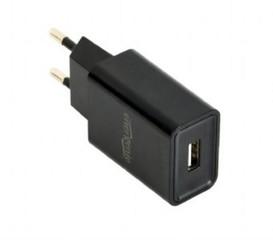 GEMBIRD USB nabíječka univerzální, černá (5V/2100mA) EG-UC2A-03