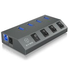 RAIDSONIC ICY BOX IB-HUB1405 externí USB HUB (4x USB 3.0)