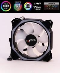 1stCOOL ventilátor AURA RAINBOW Hexagon2 ARGB ventilátor 120mm (světlé lopatky) (do CASE)