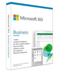 MS Microsoft 365 Business Standard CZ (1rok) předplatné na 1 rok (Office 365 pro podnikate, česká krabicová verze) bez média