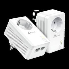 TP-LINK TL-PA7027PKIT STARTER-KIT Síťový adaptér Powerline AV1000 s průchozí zásuvkou a 2 gigabitovými porty