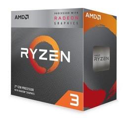 AMD cpu Ryzen 3 3200G AM4 Box s grafikou Radeon Vega 8 (s chladičem, 3.6GHz / 4.0GHz, 4MB cache, 65W, 4 jádro, 4 vlákno, 8 GPU), integrovaná grafika, Picasso Zen+ 12nm APU