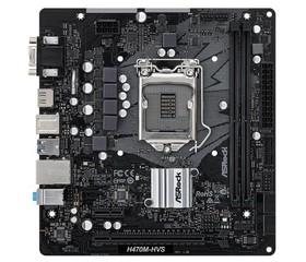 ASROCK H470M-HVS (intel 1200, H470, 2xDDR4 2933MHz, PCIE, VGA+HDMI, 4xSATA3, USB3.2, 7.1, GLAN, mATX)