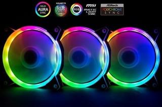 1stCOOL Fan KIT AURA EVO1 ARGB, 3x Dural Ring ventilátor 120x25mm+ nano řadič (sada do case)