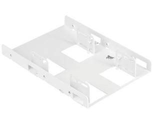 CORSAIR CSSD-BRKT2W (bílá) redukce pro upevnění 2x 2.5in SSD / HDD do 3.5in pozice v case (kovový adaptér)