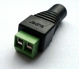 KGUARD LED zásuvka (samice) DC 2,1 / 5,5 (přechodka k napájecímu adaptéru na svorky), vhodné pro Kgu