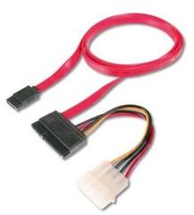 KABEL pro SATA Slim zařízení, SATA data + napájení, 0.5m