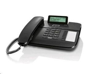 SIEMENS Gigaset DA710 stolní telefon, 3-řádkový display, 8 kláves přímé volby, černý