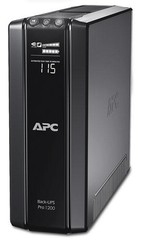 APC BR1200G-FR ups Power-Saving Back-UPS Pro 1200. 720W/1200VA, USB, 230V, BACK RS, line interaktiv