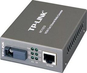 TP-LINK MC112CS převodník WDM, 10/100, support SC fiber singlmode - Verze 2 (9V)