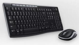 LOGITECH bezdrátový set Wireless Desktop MK270, klávesnice + myš, CZ , USB, černá