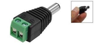 KGUARD LED zástrčka (samec) DC 2,1 / 5,5 (přechodka k napájecímu adaptéru na svorky), vhodné pro Kgu