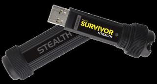 CORSAIR Survivor Stealth 128GB USB3 flash drive kovovy+guma odolny +vojenské zabarvení (čtení max 70