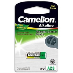 CAMELION 1ks baterie V23GA = LRV08 = A23 blistr = LR23A tvar váleček 12V (Alkaline 1ks, vhodné i pro