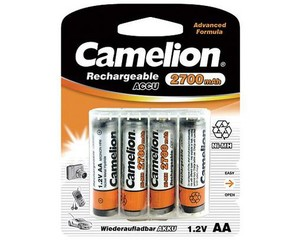 CAMELION 4pack AA/HR6 2700mAh nabíjecí baterie 1.2V Ni-MH