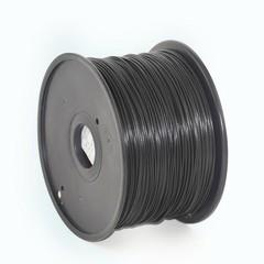 GEMBIRD 3D PLA plastové vlákno pro tiskárny, průměr 1,75 mm, černé, 3DP-PLA1.75-01-BK