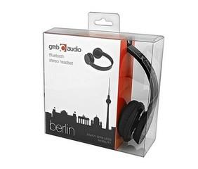 GEMBIRD sluchátka BHP-BER-BK BERLIN Bluetooth stereo headset, vestavěný mikrofon černá